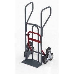 Diable escalier double pelle pro, charge 250 kg