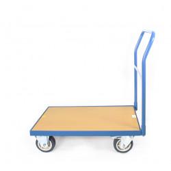 Chariot à 1 dossier, charge 300 kg, plateau 800x500 mm