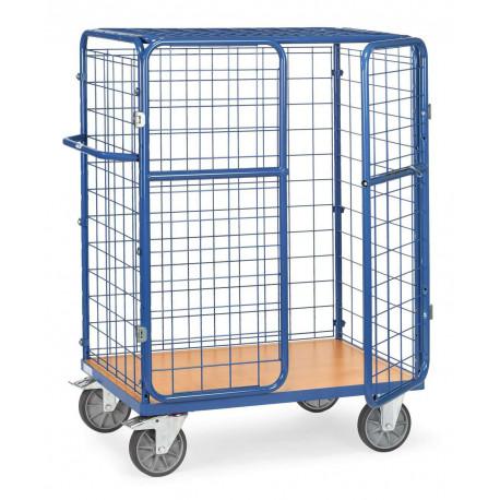 image cover Chariot pour colis à portes battantes et toit