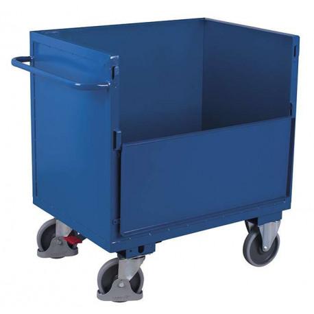 image cover Chariot caisse en tôle d'acier pour...