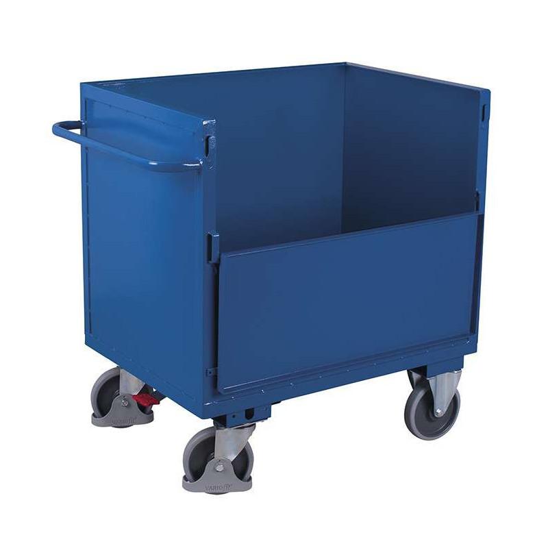 chariot caisse t le d 39 acier pour charges lourdes charge 500 kg pros. Black Bedroom Furniture Sets. Home Design Ideas