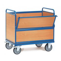 Chariot caisse en bois sans toit