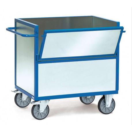 image cover Chariot caisse sans toit en tôle d'acier...