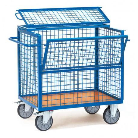 image cover Chariot caisse grillagé avec toit