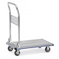Chariot à dossier rabattable aluminium