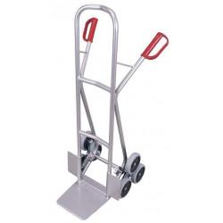 Diable escalier aluminium à 3 roues en étoile