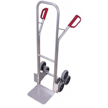 Diable escalier aluminium à 3 roulettes