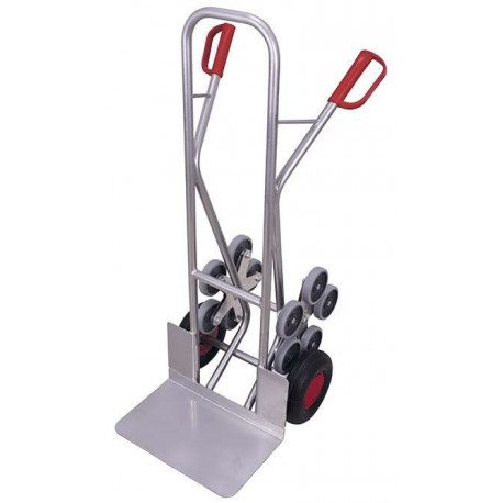 Diable escalier aluminium 2 roues en étoiles à 5 roulettes