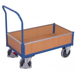 Chariot à 4 côtés avec plateau mélaminé