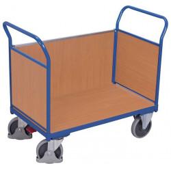 Chariot à 3 panneaux en bois