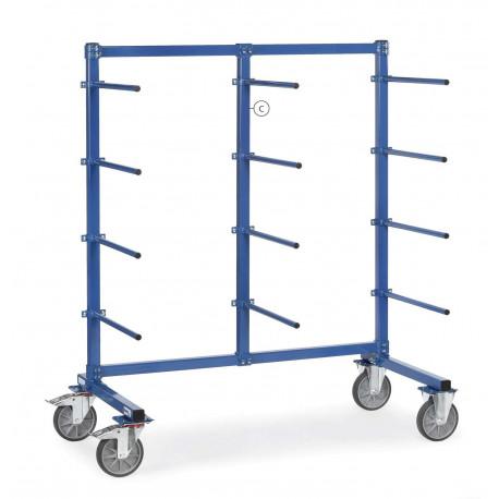 Barre verticale du milieu pour chariots avec barres de portée