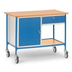 Table roulante 1 tiroir et 1 placard