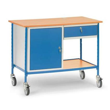 image cover Table roulante 1 tiroir et 1 placard