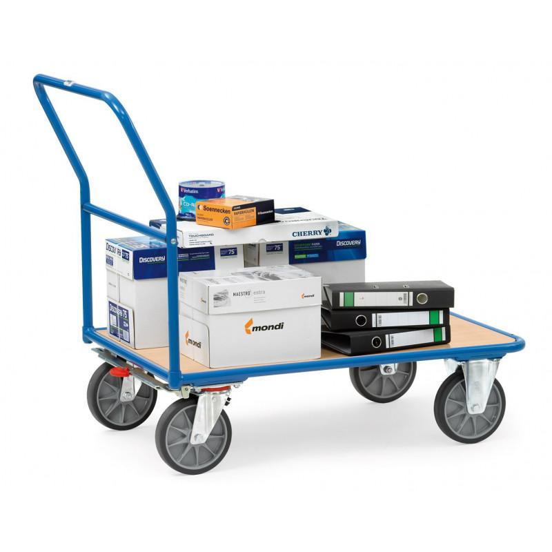 Chariot de magasin à dossier de poussée 250 kg ou 400 kg de charge